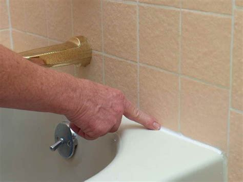 Removing Mold From Bathtub Caulking by How To Repair How To Caulk A Bathtub Photo How To