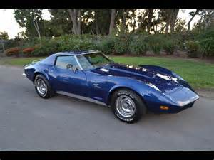 sold 1973 chevrolet corvette coupe blue for sale by
