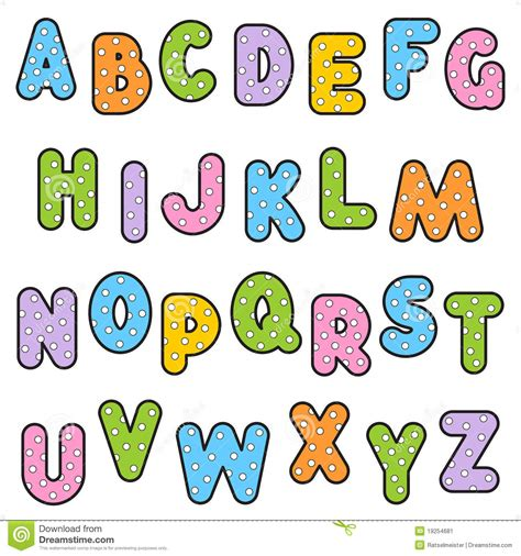 dot pattern alphabet polka dot pattern alphabet set stock image image 19254681
