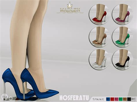 sims 4 shoes the sims resource mj95 s madlen nosferatu shoes