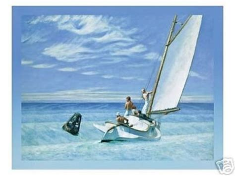 groundswell boats canvas effect edward hopper large sailing picture art