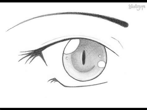 cara menggambar cara menggambar mata anime simple