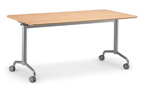 table with folding top with wheels for meeting areas
