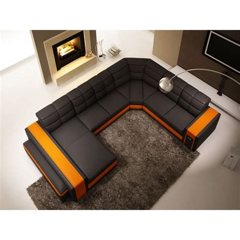 banquette convertible 2 places 1750 canap 233 en u cuir canap en u scandi cuir v ritable salon