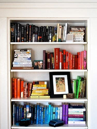 color coordinated bookshelf 15 best images about how to style on pinterest headboard