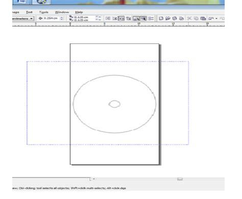 fungsi layout coreldraw cara tutorial membuat label kaset vcd dvd dengan