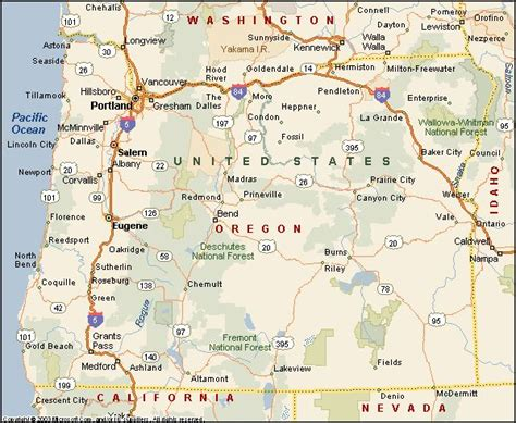 map of oregon mt 9 best images about states i ve visited on