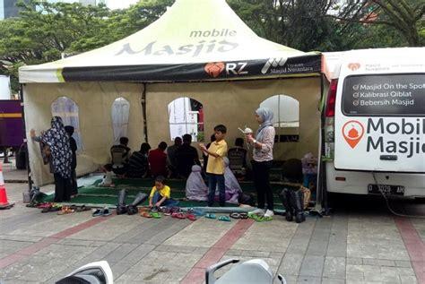 Karpet Gulung Masjid mobile masjid hadir di acara komunitas bike to work