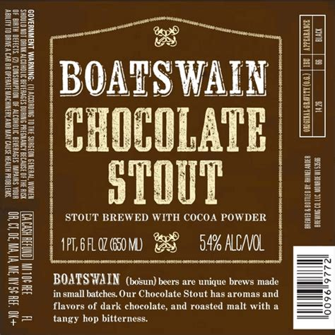 boatswain stout boatswain chocolate stout beerpulse