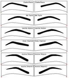 eyebrow guide template diy eyebrow stencils printable stencils for