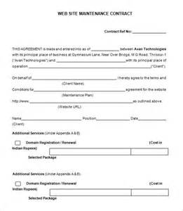Hvac Service Contract Template by 7 Maintenance Contract Templates Free Word Pdf