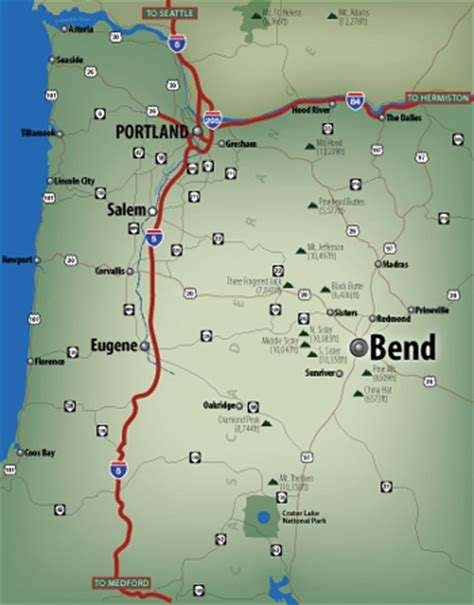 map of oregon bend eric olason cartographic artist bend oregon usa