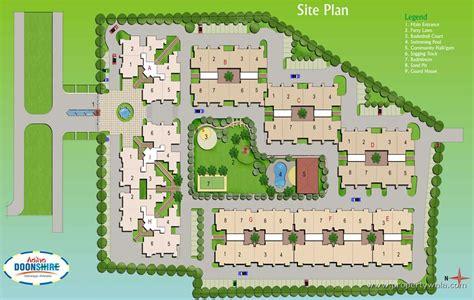 4 Room Flat Floor Plan by Aditya Doonshire Gms Road Dehradun Residential