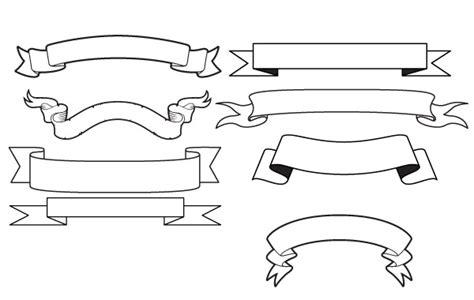 free printable ribbon banner templates free vectors generic vector banners dwarfman7