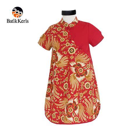 Pl Rok Dress Anak Motif rok terusan anak motif kukilo selaras kombinasi polos batik keris