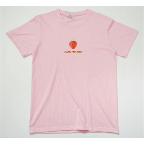 supreme t shirt supreme strawberry t shirt pink