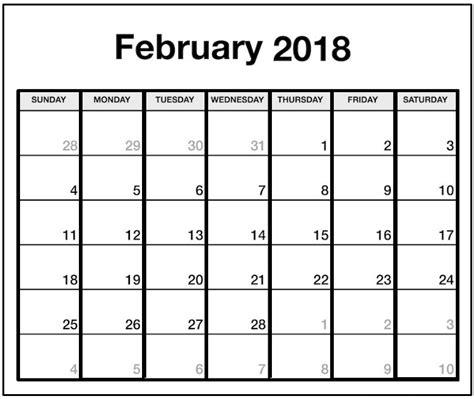 february 2018 calendar printable archives letter