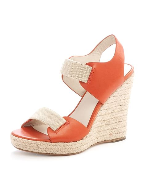 kors by michael kors vachetta wedge in orange