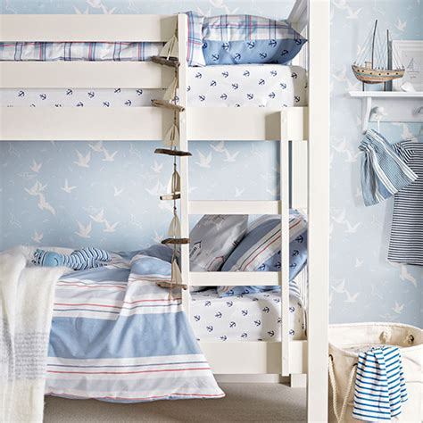 Boys Bunk Beds Uk Blue Coastal Style Boys Room With Bunk Beds Children S Room Decorating Ideal Home