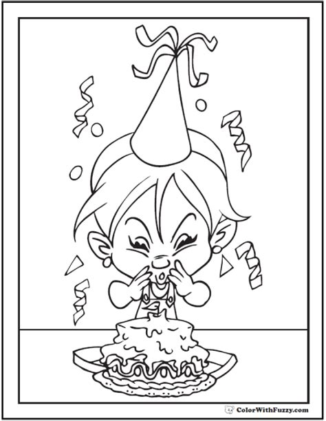 happy birthday coloring page pdf 55 birthday coloring pages customizable pdf