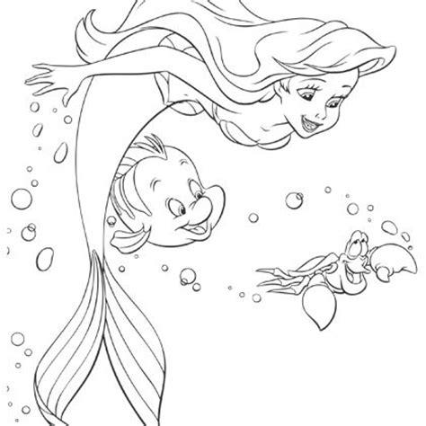 Coloriage Imprimer Princesse Ariel L