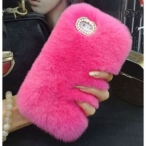 Softcase Casing Cat Fish Ring Stand Holder Silicon Iphone 6 Plus bling rhinestone fluffy rabbit fur soft for