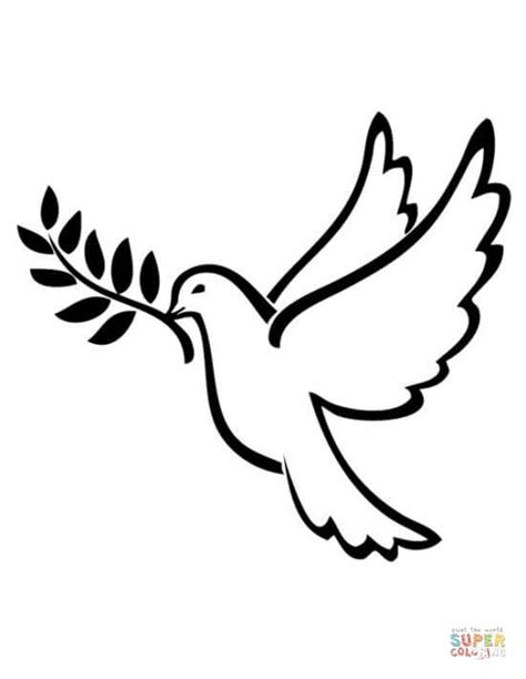 Peace Dove Coloring Page by Peace Dove Coloring Page Free Printable Coloring Pages