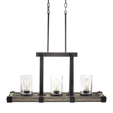Shop Kichler Barrington 12 01 In W 3 Light Anvil Iron With Lowes Kitchen Island Lighting