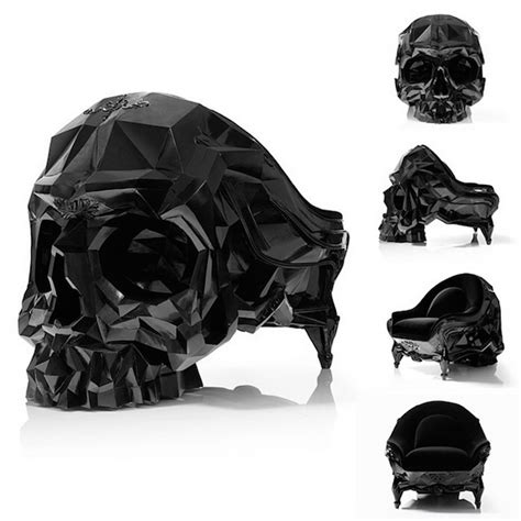 skull armchair la skull armchair un fauteuil aust 232 re en forme de cr 226 ne joli joli design
