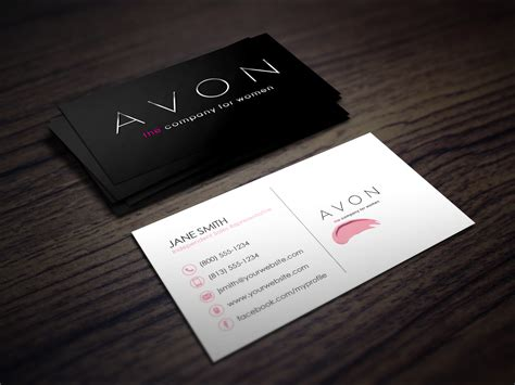 business card template for independent consultant avon business cards business card design inspiration