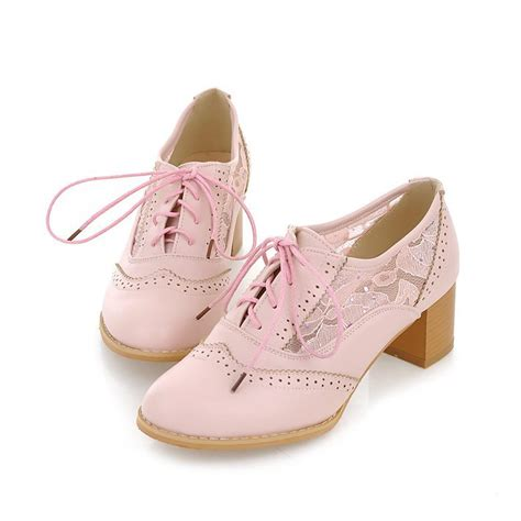 oxford shoes with heels pink oxford shoes www shoerat
