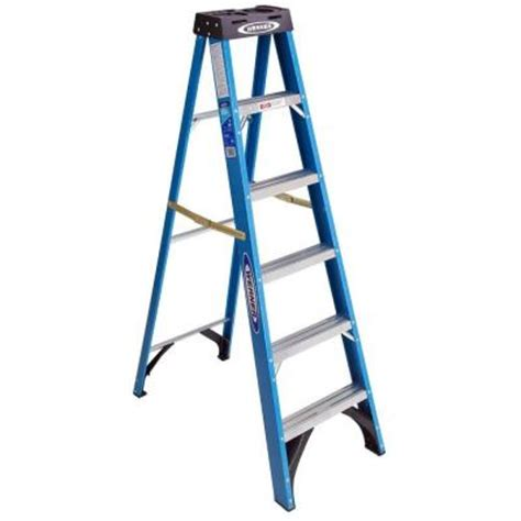 Ladders At Home Depot by Werner 6 Ft Fiberglass Step Ladder With 250 Lb Load