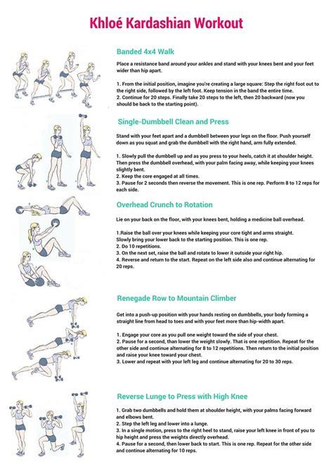 Reverse Floor Plan khlo 233 kardashian workout free printable daily fit hit