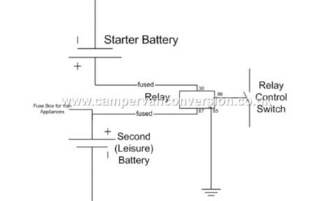 leisure battery relay wiring diagram efcaviation
