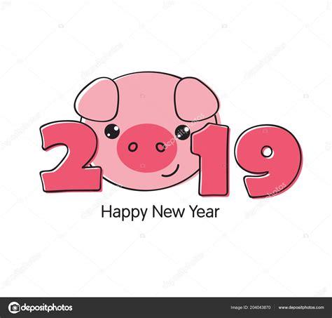 vector illustration happy  year  funny card design cartoon stock vector  nana