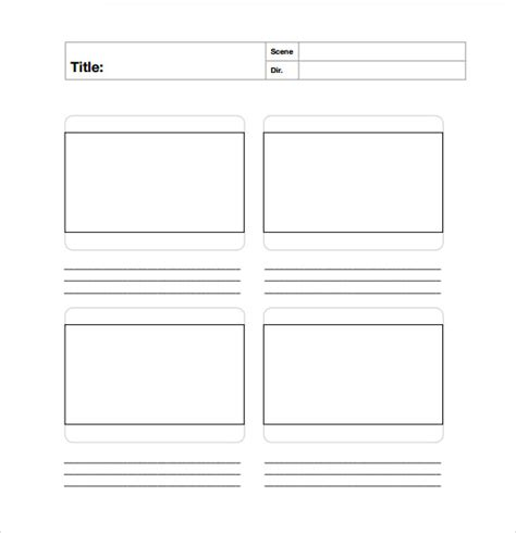 free story board template sle free storyboard 22 documents in pdf