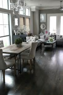 Living Room With Dining Table Veronika S Blushing Rustic Contemporary Dining Living Room Combination Home Decoz