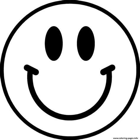 smiley face coloring page printable coloring image