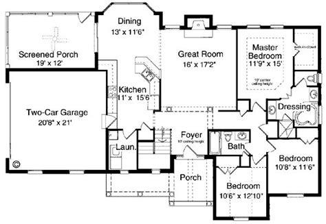 ranch bungalow floor plans bungalow ranch house plan 97760