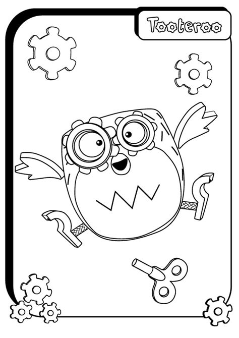 tickety toc pages coloring pages