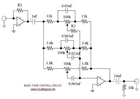 4558 tone circuit diagram basic tone circuit schematic