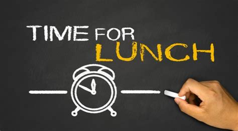 what time is lunch lunch break learning e learning feeds