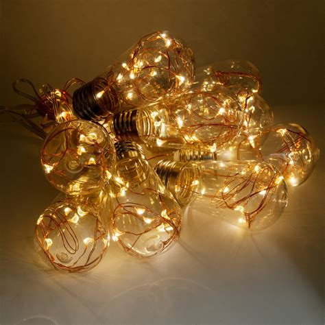 premier led lighting edison nj sharper image led copper wire edison lights