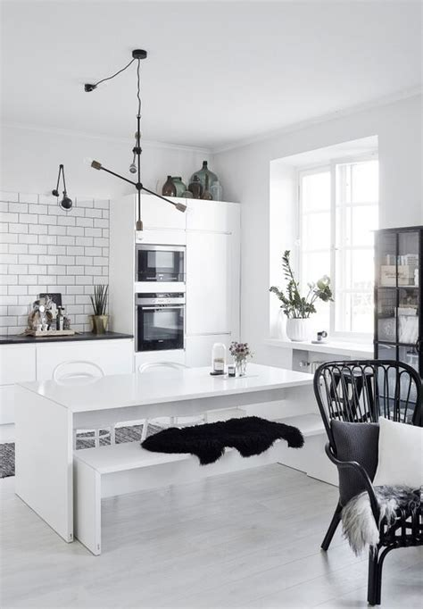 monochrome home decor decoratingspecial com scandinavian kitchens find your style here
