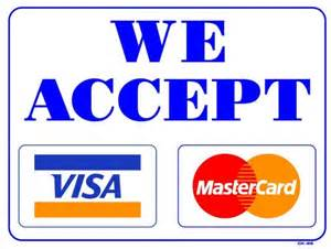 j c services accepts visa and mastercard