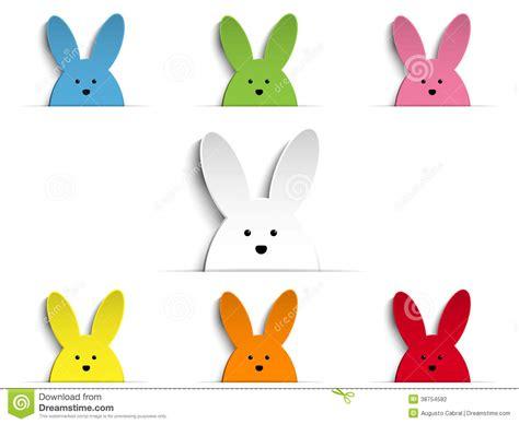 Happy Bunny Set Medium happy easter bunny icon set royalty free stock image cartoondealer 48532138