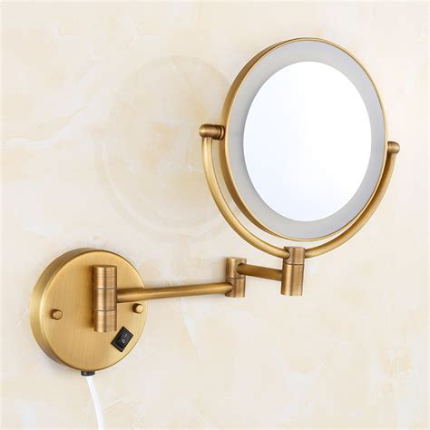 magnifying mirror for bathroom wall high quality 8 quot brass antique 1x3 magnifying bathroom wall