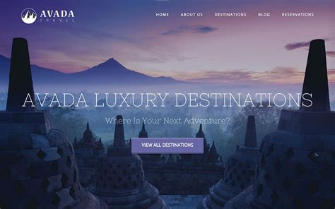 avada theme hotel 45 best travel wordpress themes for blogs agencies and