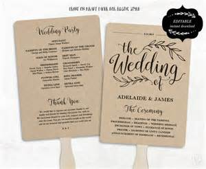paper fan wedding programs pin wedding program fan exles on