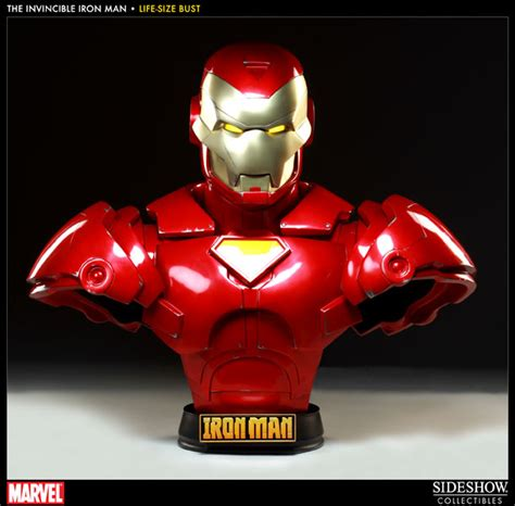 marvel iron man mark vii life size bust by sideshow iron man mark vii life size bust seasons toy store